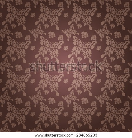 Modern stylish texture butterfly wallpaper pattern background in retro style for your design vector illustration