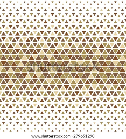Modern stylish texture of the triangles and hexagons. Vector seamless pattern. Repeating geometric tiles - stock vector