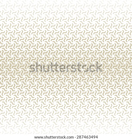 Modern stylish texture of the triangles and hexagons. Vector seamless pattern. Repeating geometric tiles. Gray and white texture. - stock vector