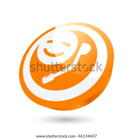 modern support sign - stock vector