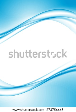 Modern swoosh border folder design template with empty space for text. Vector illustration - stock vector