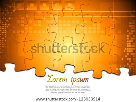 Modern tech background. Puzzle vector design eps 10 - stock vector