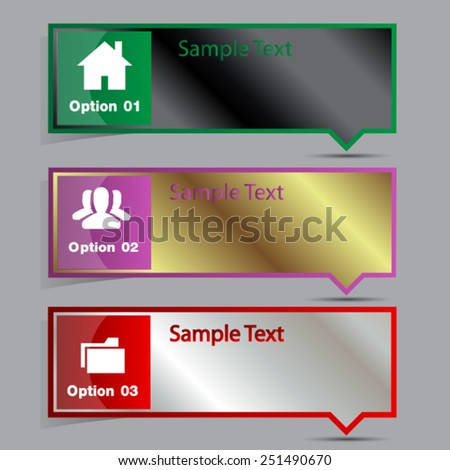 modern text box template for website computer graphic and internet, numbers. label.