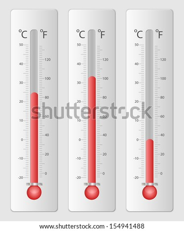 Modern thermometers for design - stock vector