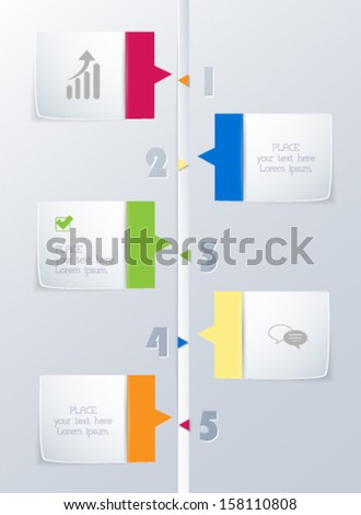 Modern timeline design template. Vector eps10. - stock vector