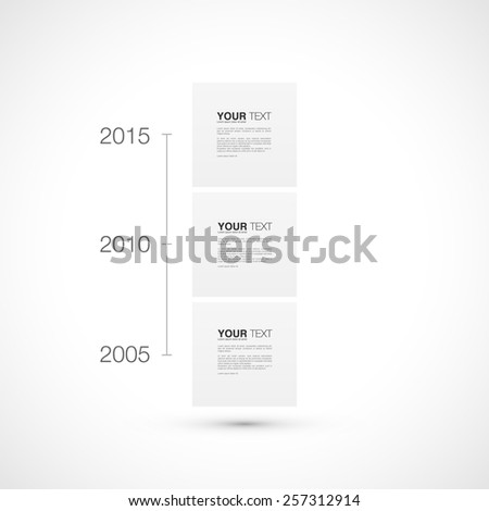 Modern timeline infographic design with your text, vector stock eps 10 illustration - stock vector