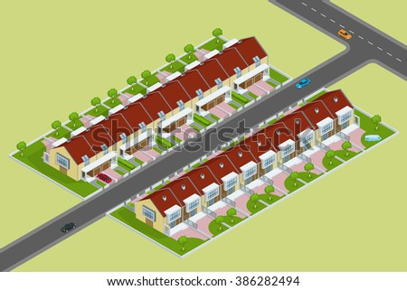 Modern townhouses,  townhouse flat, townhouse 3d, townhouse isometric, townhouse vector, townhouse illustration, Exterior townhouses, townhouse modern, townhouses, town house, town houses