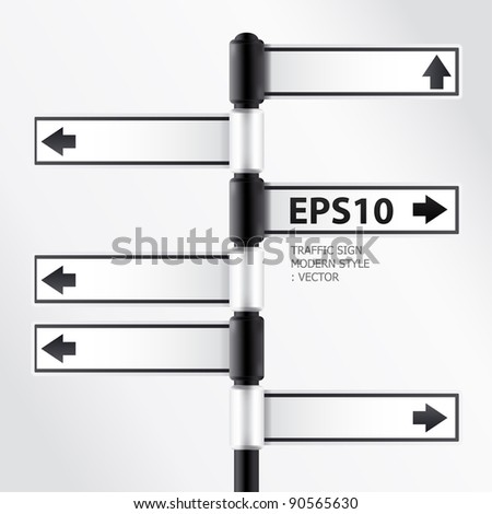 modern traffic sign - stock vector