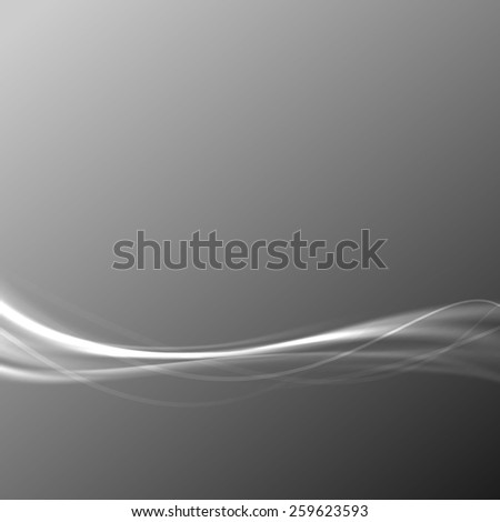 Modern transparent speed wave abstract gray background. Vector illustration