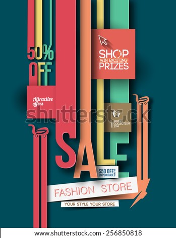 Modern Trendy Flyer Design Template . Vector design  - stock vector