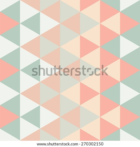 Modern Triangle Pattern - seamless - stock vector