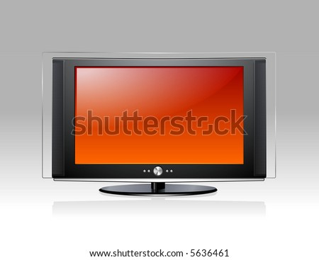Modern TV - stock vector