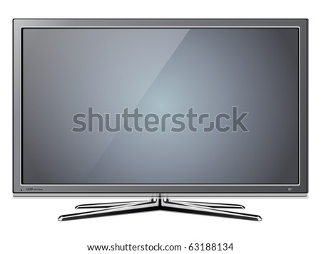 Modern TV lcd, led - vector illustration. - stock vector