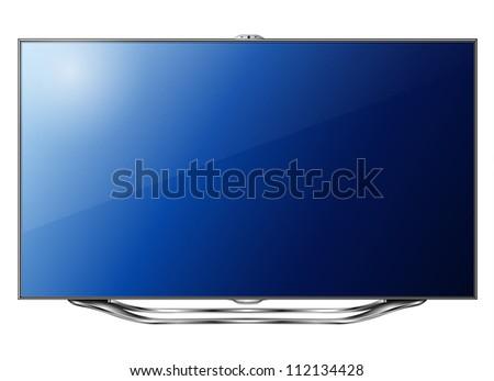 Modern TV led isolated, 3d technology vector illustration. - stock vector