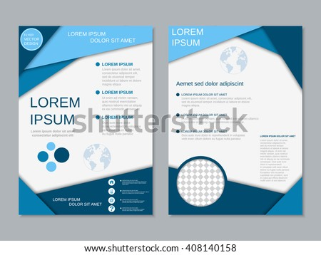 Modern two-sided flyer vector design. Brochure, banner, poster template. A4 format