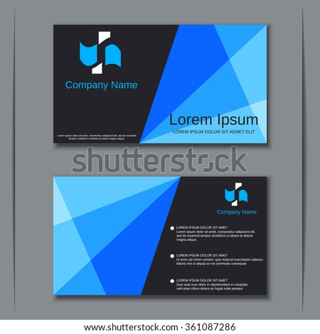 Modern two sided visiting card banner badge poster sticker mockup