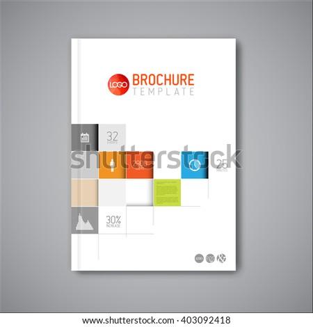 Modern Vector abstract brochure / book / flyer design template with mosaic - stock vector