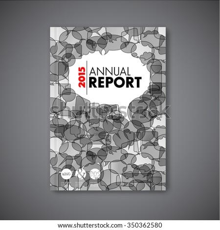 Modern Vector abstract brochure / book / flyer design template with speech bubbles - stock vector