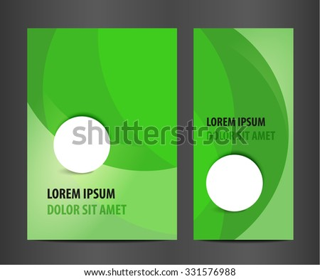 Modern vector abstract brochure. Stylish presentation of business poster. Design layout template.