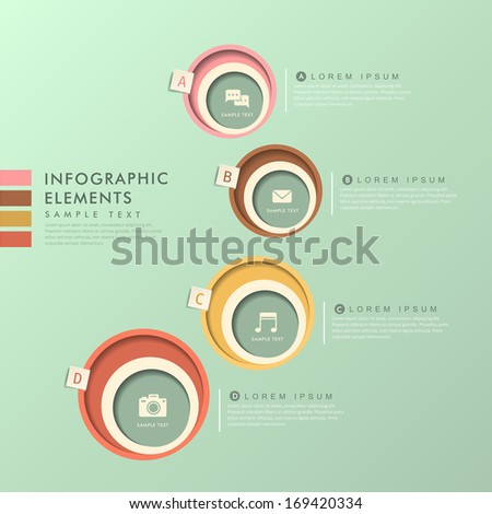 modern vector abstract circle label infographic elements - stock vector