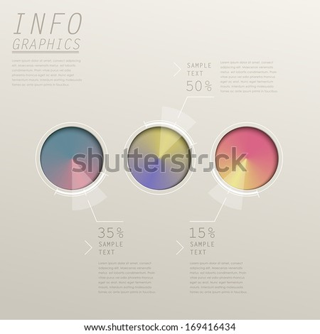 modern vector abstract cone gradient pie chart infographic elements - stock vector
