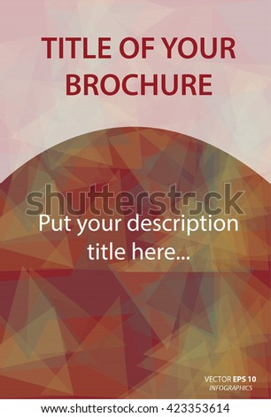 Modern Vector abstract design template for brochure - stock vector