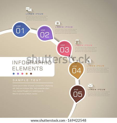 modern vector abstract flow chart infographic elements - stock vector
