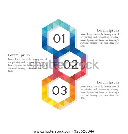 Modern vector abstract hexagon info graphic elements  - stock vector
