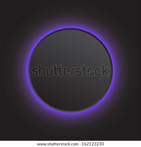 Modern vector abstract light glowing button - stock vector