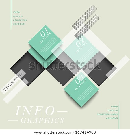 modern vector abstract square tag infographic elements - stock vector