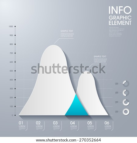 modern vector abstract waveforms infographic elements.can be used for workflow layout, diagram, number options, web design.  illustration ,EPS10 - stock vector