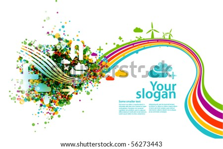 modern vector background - ecology concept - stock vector