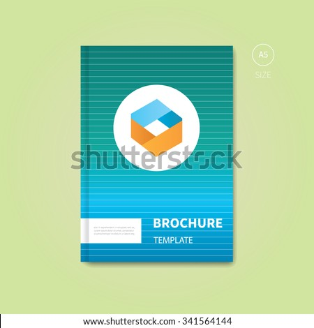 modern vector book with gradient in background / flyer brochure layout with white lines - stock vector
