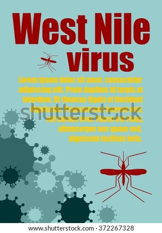 Modern vector brochure, report or flyer design template. Medical industry, biotechnology and biochemistry. Scientific medical designs.  Mosquito transmission diseases relative. West Nile virus - stock vector