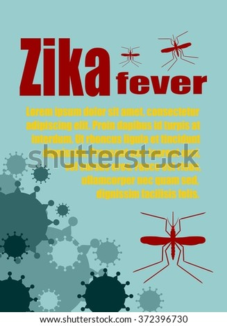 Modern vector brochure, report or flyer design template. Medical industry, biotechnology and biochemistry. Scientific medical designs.  Mosquito transmission diseases relative theme. Zika fever  - stock vector