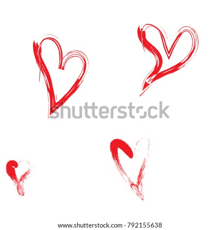 Modern vector design elements for valentine's day and hand drawn hearts, love.