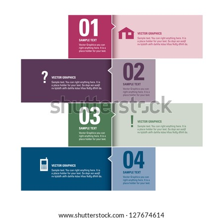 Modern Vector Design Template. Numbered Banners. Graphic or Website Layout. - stock vector