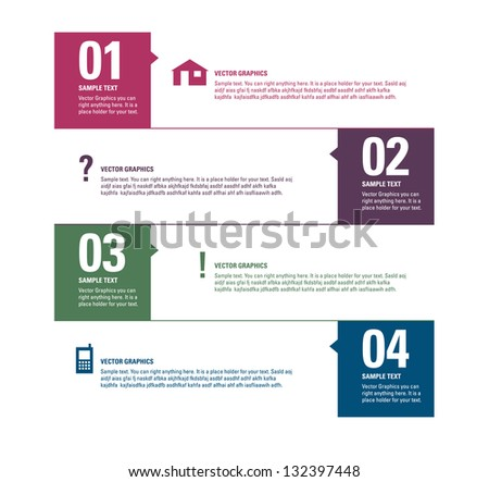 Modern Vector Design Template. Numbered Banners. Graphic or Website Layout. Eps10. - stock vector