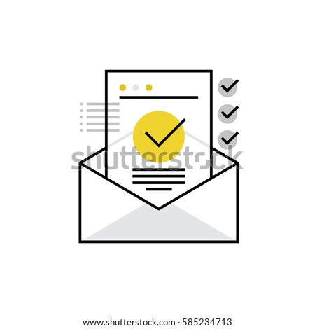 Modern Vector Icon Confirmation Letter Approved Stock Vector