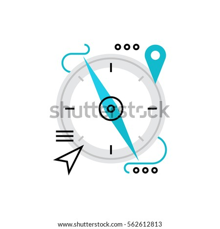 Modern Vector Icon Magnetic Compass Navigation Stock Vector Hd