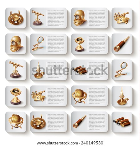 Modern vector icons collection. Isolated on white background - stock vector