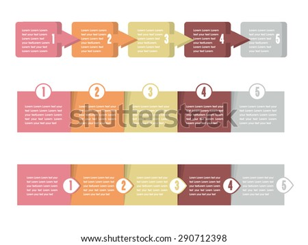 modern vector illustration concept of analyzing project on business meeting. office objects with papers and documents. - stock vector