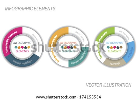 Modern vector infographic template with circle, design for your business presentation