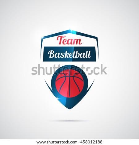 Modern vector logo for a basketball team - stock vector