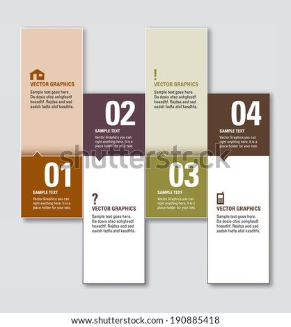 Modern Vector Numbered Banners.