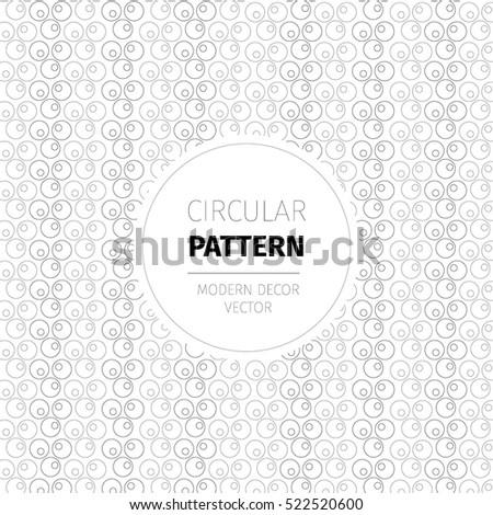 Modern Vector Pattern, Circular, Wallpaper, Decor, Packaging, Label,  Identity,