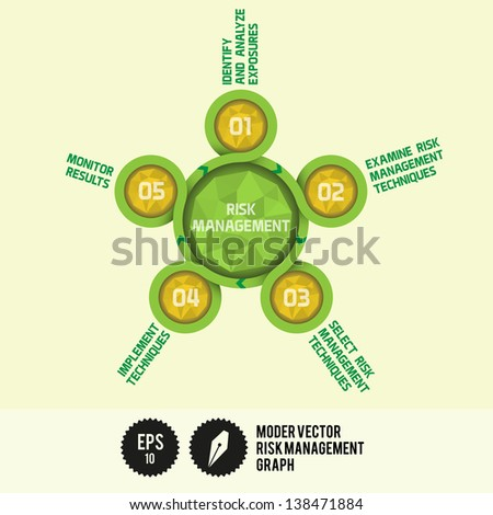 Modern Vector Risk Management Graph with Gems - Vector Illustration - stock vector