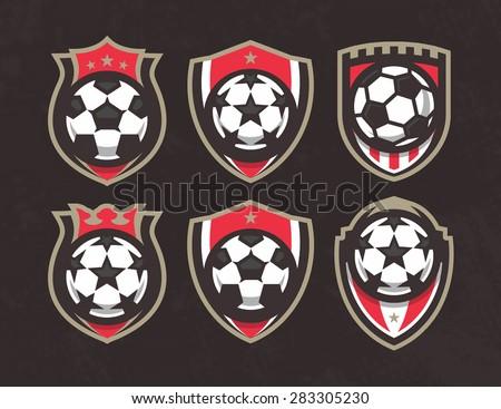 Modern vector soccer logo set - stock vector