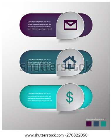modern vector  speech bubble info graphic elements. - stock vector
