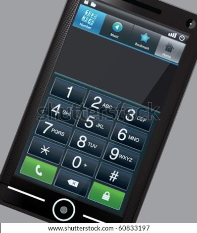 Modern vector touchscreen phone - stock vector